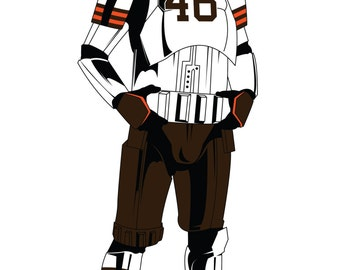 Storm Trooper Quot Cleveland Browns Quot Armor Limited Edition Art