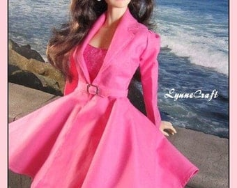 Pink Coat for your Iplehouse EID & SID Girls, and Other Similar Sized Dolls. .