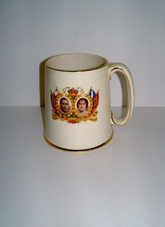 1937 Souvenir Tankard Coronation King George VI I Cum From Ilfracombe Devon Vintage Royalty Royal Souvenir Royal Collectible