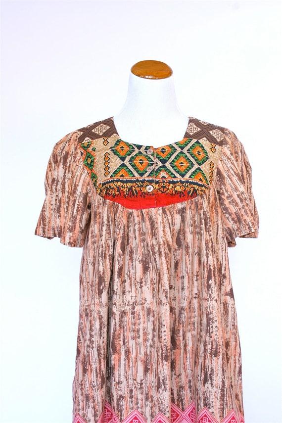 80 s vintage dress tribal dress hawaiian dress by