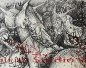 """Original Drawing by Jennifer Gillia Cutshall- """"LosingSight"""""""