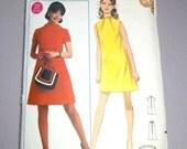 1960's Dress Junior's Vintage Mod Butterick x-small 32 inch bust