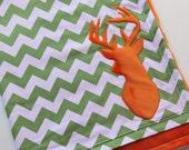 Deer Baby Blanket, Hunting Baby Blanket, Woodland Baby Blanket, Crib Blanket, Chevron Stripe, Deer Chevron Baby Blanket