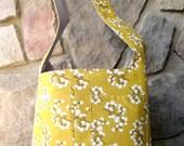 "Reversible Hobo Bag Modern Sling Purse Tote, ""Whitney"" pattern"