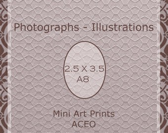 ACEO Mini Art Print - Custom Printing - 2.5 X 3.5 / A8 Artist's Fine Art  Printing Services- Party Favor Photography  / Altered Art Supply