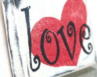 Love Sign Handpainted Wood