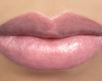 "Vegan Lipstick - ""Peony"" (semi sheer light pink) natural lip tint, balm, lip colour mineral lipstick"
