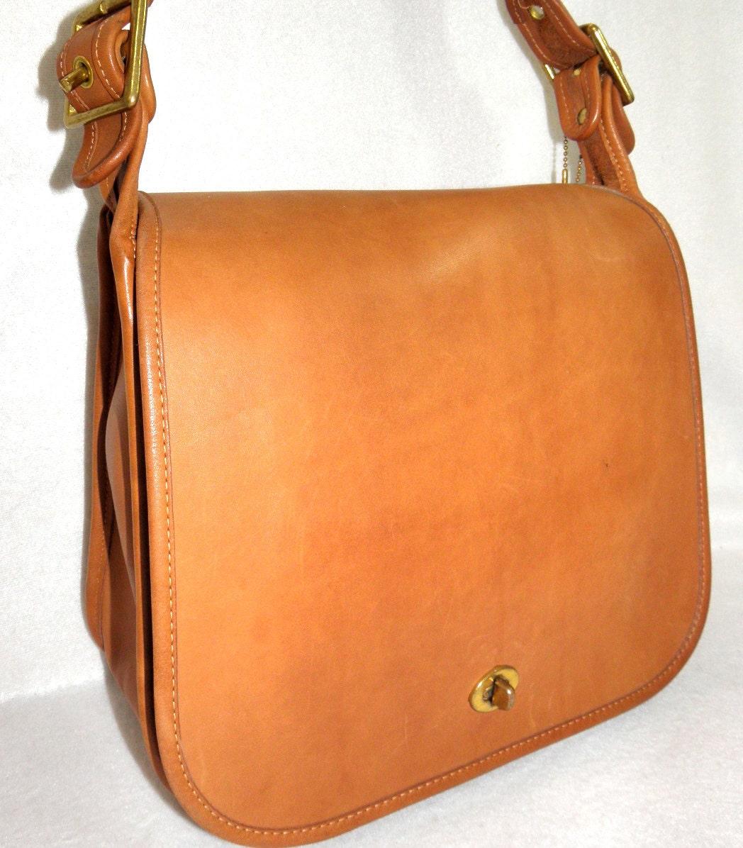 Large British Tan Leather Saddle Bag Vintage By