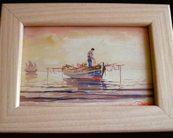 Small Framed Watercolor - signed by artist