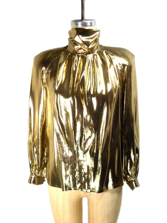 Womens Gold Blouse
