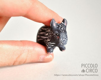 Miniature Tapir Figurine Animal Sculpture, Animal Totem