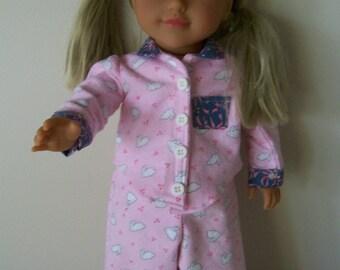 "Pyjamas to fit 18"" American/Australian Doll"