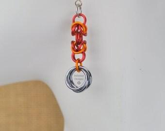 """Chainmail Byzantine Weave Mobius Flower Earrings - """"Byz Mobius"""""""