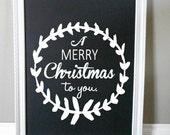 A Merry Christmas To You. Cheerful Christmas Custom Vinyl Decal.