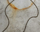 """18"""" Brass Patina Chain Necklace with Lobster Clasp- Brass Antique Necklace- Antique Chain"""