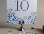 Wedding Table Number Name - Set of 10 - Wedding Reception Table Decor - Eden Wedding Range
