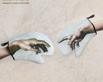 CREATION OF DELICIOUS oven-glove (the creation of Adam oven-glove)