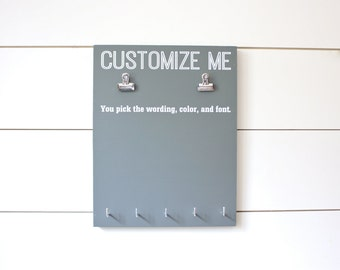 Customizable Bib and Medal Display - You design it, we make it!