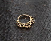 Septum jewelry - gold septum - wedding jewelry - 14k yellow solid gold - nose ring - Nose jewelry - septum