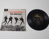 "THE BEATLES vintage vinyl record (""Twist and Shout"" Single)"