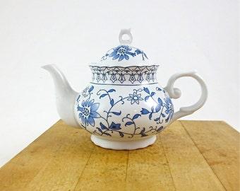 Vintage Blue Onion Porcelain Teapot