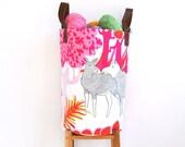 Large Round Hamper, Nursery Fabric Basket, Storage Bin, Toy Basket, Nursery Storage, Laundry Basket, Toy Storage, Pink