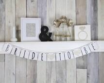Bridal Shower Banner, Modern Wedding, Bridal Shower Decor, Wedding Banner