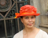 Packable Travel Hat -All colors available- Parasisal Straw Hats-New Hand Blocked- 1920's-Vintage Inspired Hat w/Brim-Tie Dyed Straw Hat-