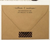 Custom Address Stamp - Cursive Pen Self Inking Return Address Stamp