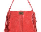 NAVAJO. Boho fringe bag / fringe leather bag  / fringe shoulder bag / leather purse / western bag. Available in different leather colors.