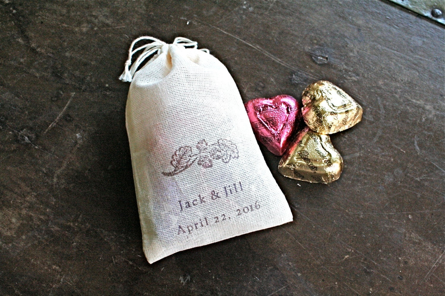 Custom Printed Wedding Favor Bags : Personalized wedding favor bags 3x4.5. Set by ClementineWeddings
