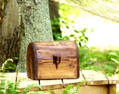 Card Box - Keepsake Box - Wooden Chest - Rustic Wedding Card Box - Memory Box