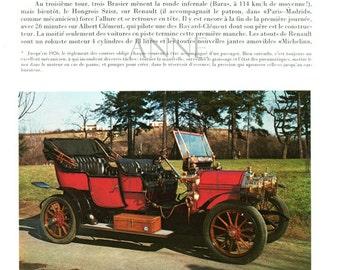 1968 Vintage car print  Napier automobile Berliet photograph antique French1960s mens gift Vintage car decor Antique car gift