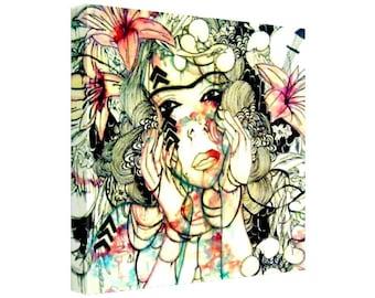 Bohemian Art Canvas Art Print Canvas Art Watercolor And