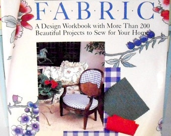 Sewing Design Workbook, 200+ projects, Vintage Decorating With Fabric Book, First Edition 1986, interior design, craft fabric book