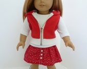 American Girl Doll Clothes - New Lollipop Kids Cherry,  3 piece outfit