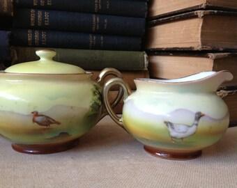 Bavarian Cream and Sugar Bowl Royal Bayreuth Porcelain China