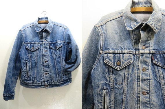 90s Levi's Denim Jacket - Perfectly Worn Twin Peaks Style Jean Jacket - Mens size S