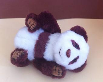 Jointed Artist Teddy Bears, Handmade OOAK. panda bear Trufa,  Mohair Bear