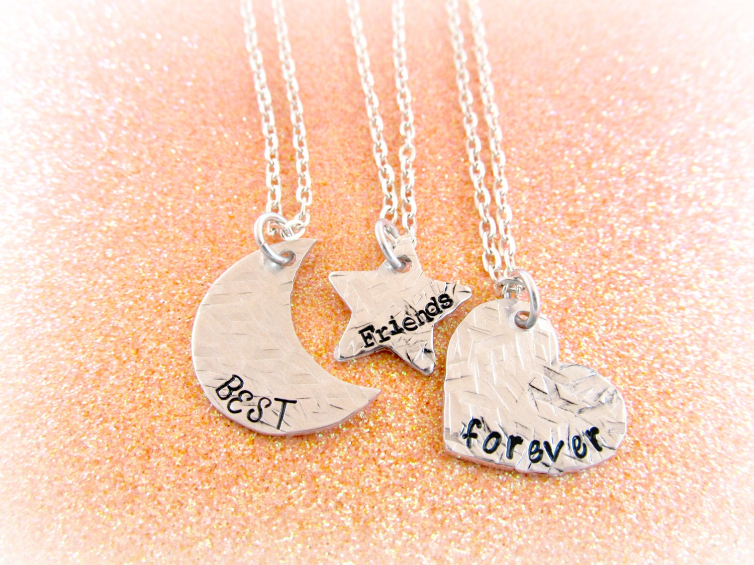 Bff necklaces for 4  Etsy