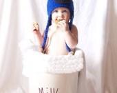 Crochet Cookie Monster Hat- Child Size
