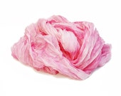 Pink silk scarf - Rose Bud - Valentine's gift for her, pink, light pink, rose silk scarf.