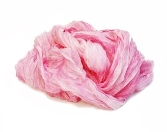 Pink silk scarf - Rose Bud - Valentine's gift for her, pink, light pink, rose, pink silk scarf.