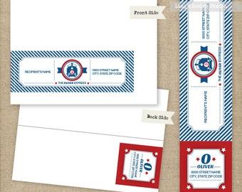 Wrap Around Address Labels/ Train Wrap Around Address Labels | Printable