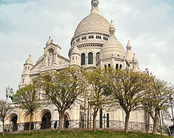 Paris View of Sacre Coeur, Montmartre Fine Art Photography, Instant Download, Digital, Printable High ResolutionJPEG file.