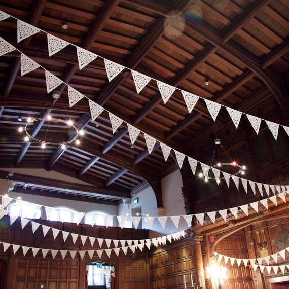 Ivory Wedding garland,  wedding bunting romantic decor