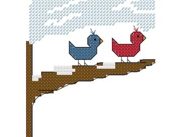Snow Friends Cross Stitch Pattern - Instant Download
