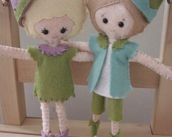 Kindness Pixie Elf. Custom Elf Pixie Doll. Bendable Elf Doll. Christmas Decor. Knee Hugger. Plush Doll. Gingermelon.