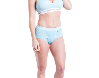 28C Wireless Push Up Bra in Glacier Blue, Women's Sleepwear & Intimates, Comfort Bra with VELCRO (R) Brand Back Closure in Glacier Blue