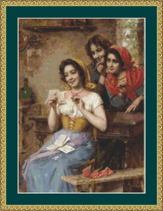 The Love Letter Cross Stitch Pattern /Digital PDF Files /Instant downloadable